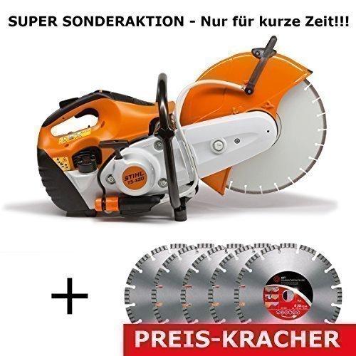 Preisvergleich Produktbild Stihl TS 420 Motortrenner incl 5x ADT Diamant-Trennscheiben
