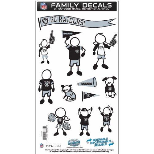 Siskiyou NFL Oakland Raiders Familie Aufkleber Set Medium