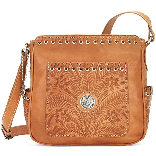 american-west-borsa-a-tracolla-donna-marrone-golden-tan-taglia-unica
