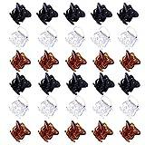 30 Stück Mini-Kunststoff-Haargreifer für Frauen Kleine Mädchen Haarnadeln Klemmen (braun, schwarz, klar)