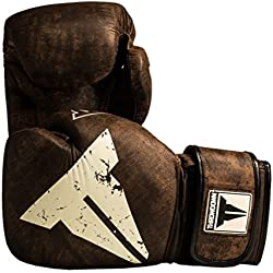 Throwdown Elite Vintage 2.0 guantes de boxeo, Unisex, color Black/Neon Green, tamaño 12 onzas