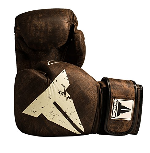 Throwdown Boxhandschuhe Elite Vintage 2.0 (Schwarz Black/Neon Green, 430 g)
