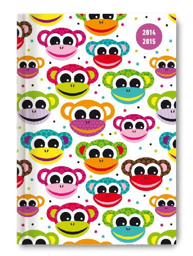 Collegetimer Monkeys 2014/2015 - Schülerkalender A5 - Day By Day - 352 Seiten - Monkey-kalender 2015