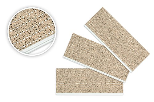 Outdoorsicherheitsstufenmatte mit Alu-Pressprofil Außenstufenmatte 8 Stück Beige/Sand