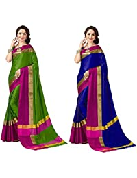 Vardhman Art Designer Combo Of Cotton Silk Sarees For Women Latest Design With Blouse(17 DIFFERENT COMBOS)