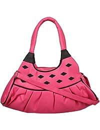 IIK COLLECTION Pink Color Casual Shoulder Bag For Women's And Girl's Handbag (IIK-HB-008)