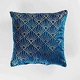 Douceur d'Intérieur GRAPHIGOLD Coussin, Bleu, 40 x 40 CM