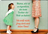 Taurus Kunstkarten Kühlschrankmagnet Sprüche & Humor Mama, wie ist es eigentlich, die Beste Tochter der Welt