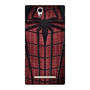 Voila Amazing Red spider Back Case Cover for Sony Xperia C3