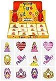 Tatuajes Temporales de Princesa Para Niñas 6 Paquetes de 12 - 72 en Total - Relleno de Piñata Bolsa de Fiesta