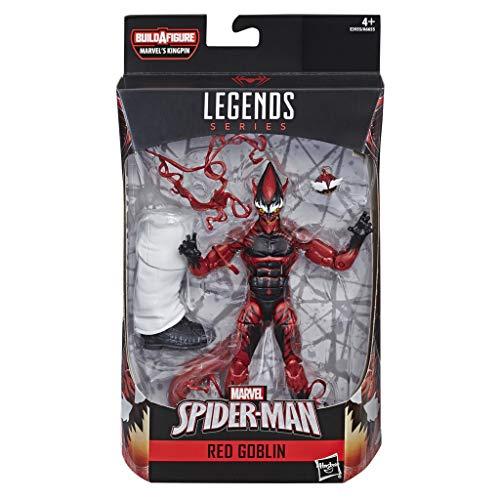 Spider-Man Legends Series 6 inch Red Goblin (Hasbro E3955CB0), Mehrfarbig, Bunt