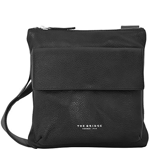 The Bridge Sfoderata Soft Uomo Sac bandoulière cuir 26 cm nero