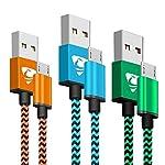 Aione Cable Micro USB Carga Rápida 2m, Sincro y Carga USB Compatible con Disposi...