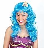 perruque sirène Bleu avec coquillages