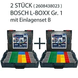 Bosch Lot de 2 coffrets de transport L-Boxx avec garniture mousse de couvercle
