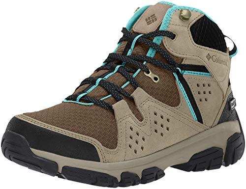 Columbia ISOTERRA Mid Outdry, Botas de montaña para Mujer, Gris Mud, Teal 255, 41 EU