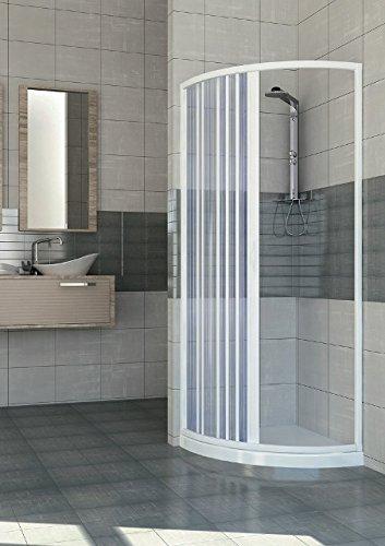 Box doccia cabina semicircolare a soffietto in PVC 90x90