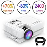 Best Led Projectors - WONNIE LCD Video Projector, 1800 Lumens Home Theater Review