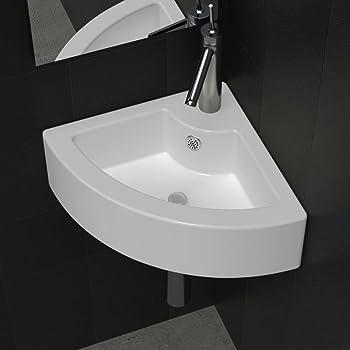 TecTake Lavabo à poser en céramique vasque rectangulaire salle de ...