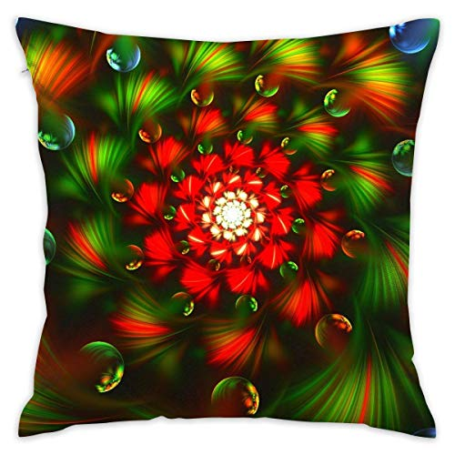 65 PPCC Throw Pillow Covers, Color Vortex Cushion Cover Case Pillow Custom Zippered Square Pillowcase Kissenbezüges Vortex Case Cover