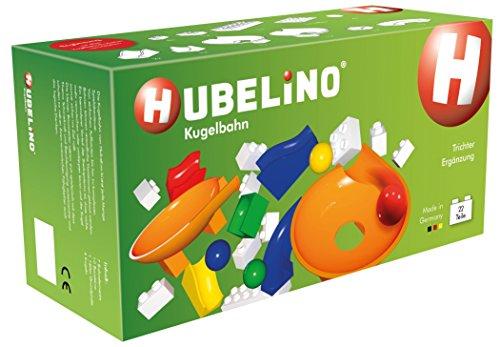 Hubelino - Kugelbahn - Trichter Ergänzung - 22 Teile – ab 3 Jahre (100% kompatibel mit Duplo)