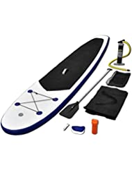 vidaXL Tabla de Surf Remo azul y blanco con SUP regulable