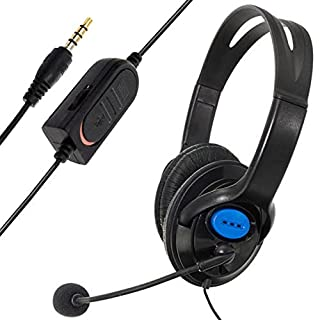 asdomo Wired Gaming Headset Kopfhörer mit Mikrofon für Sony PS4Playstation 4Schwarz und Blau