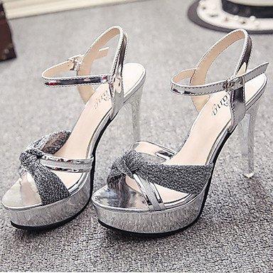 LvYuan Sandalen-Kleid Lässig-Stoff-Stöckelabsatz-Komfort-Rosa Gold Silber Pink
