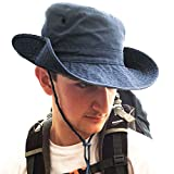 TOSKATOK® UPF 50+ Unisex Safari Outback Australian Style Cotton Bush Hat with Wide Brim, Chin Strap, Side Press Studs and Air Vents