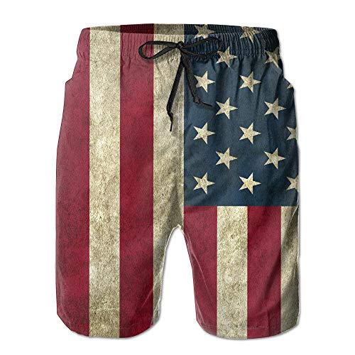 American Flag Board Short Moistur Beach Shorts with Pockets for Unisex SizaColour Size - XXL
