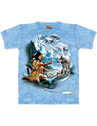 The mountain t-shirt wolf spirit of dreams»