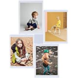 Leggy Horse Marcos de Foto set flexible de alta calidad -Acrílico transparente- regalo perfecto con formas diferentes Blanco (8''x10'', Blanco-Set de 4)