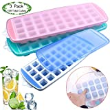 Ice Cube Trays,108 Grid Ice Cube Moulds with Spill-Resistant Lids,3 Pack Easy Release
