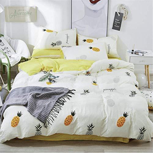 SHJIA Bettwäsche Set Baumwolle Bettwäsche Twin Single Double Queen King Size Kissenbezug Bettbezug Sets F 180x220cm