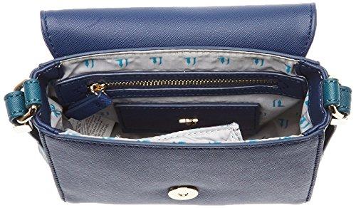 Trussardi Jeans Ischia Borsa a Tracolla, 17 cm, Bronze Blu/Verde