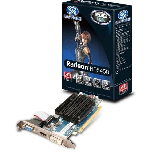 Sapphire ATI Radeon HD 5450 Grafikadapter (PCI-e, 1GB GDDR3 Speicher, DVI, HDMI) passiv