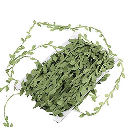 Verde artificiale foglie foglia finto corona ghirlande Vine Home da parete per esterni party ornamenti decorazione di nozze fai da te