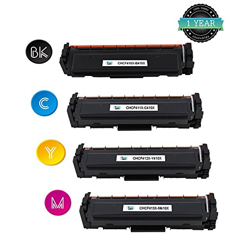 Preisvergleich Produktbild Cool Toner XL kompatibel Toner fuer CF410X CF411X CF412X CF413X 410X fuer HP LaserJet Pro M452dw M452nw M452dn, MFP M377dw M477fnw M477fdn M477fdw, Schwarz 6.500 Seiten, Color je 5.000 Seiten