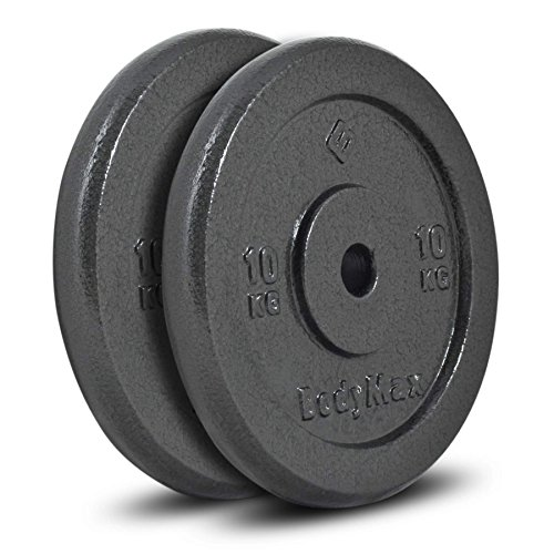 Bodymax Standard Hammertone Weight Disc Plates - 2 x 10kg