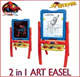 MARVEL COMICS SPIDERMAN FLOOR STANDING ART EASEL COLOURING DRAWING CHALKBOARD