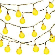 Dailyart - Guirnarldas blancas de luz calida efecto estrellado (Jardines, Casas, boda, fiesta de Navidad)