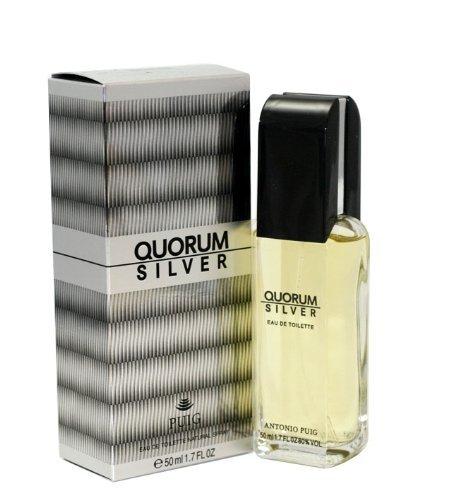 Antonio Puig Quorum Silver Eau de Toilette Spray for Men, 1.7 Ounce