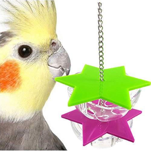 EUYOUZI Bird Seed Food Foraging Toy for Parrot Budgie Parakeet Cockatiel Conure African Grey Cockatoo Macaw Amazon Lovebird Finch Canary Cage Feeder -