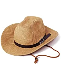 Casquillo A Prueba De Viento Plegable Gorra Sombrero Sombrilla Pesca De De Acogedor Paja De Verano Sombrero De Vaquero Sombrero Beige Cap Wai 53Cm