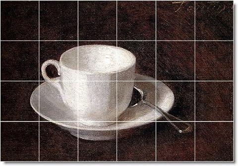 Henri Fantin-Latour Still Life Backsplash Tile Mural 20. 17x25.5 Inches