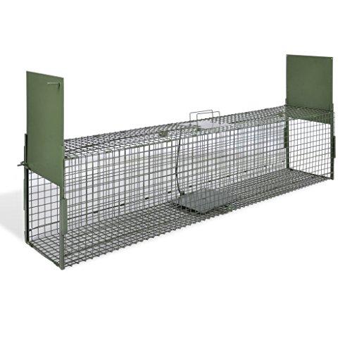 Festnight Trappola per Animali 2 Porte 150 x 30 x 30 cm