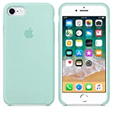 IPCASE Cover iPhone 7/8, Custodia Antiurto Gomma Gel Silicone Liquido con Fodera Tessile Microfibra Morbida Custodia Silicone iPhone 7/8 Cover per Apple iPhone 7/8 (iPhone 7/8, Verde)