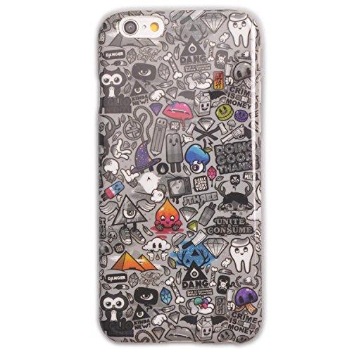 Voguecase® Schutzhülle / Case / Cover / Hülle / TPU Gel Skin für Apple iPhone 6 4.7 Zoll (keepcalm sparkle) + Gratis Universal Eingabestift Schwarz-Comics