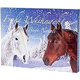 Pureday Adventskalender Schmuck mit Pferde-Motiv - für Kinder, Mädchen, Teenies - mit Armbändern, Kette, Collier, Charms & Beads