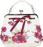 Küstenluder Damen Tasche Dalene Blumen Vintage Handtasche Creme